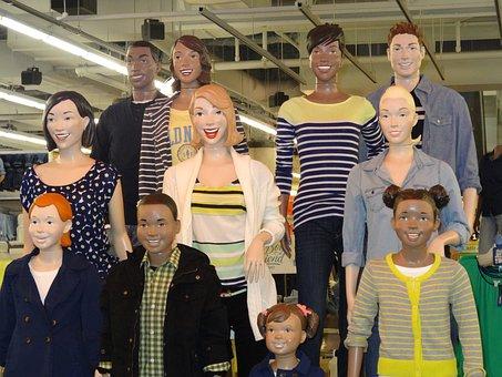Mannequins, Mall, Dummies, Display Dummies, Manikins