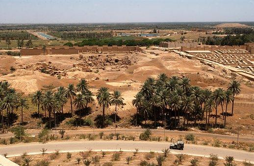 Hillah, Iraq, Landscape, Desert, Nature, Outside, Trees