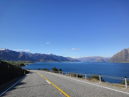 New Zealand, Road, Mountains, South Island, Landscape