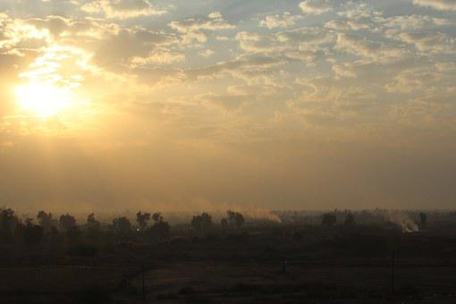 Sunset, Sun, Trees, Sky, Nature, Orange, Dawn, Dusk