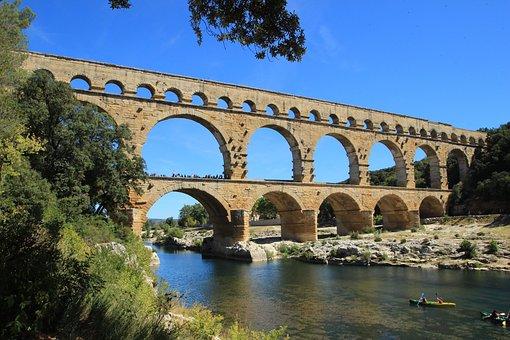 Pont Du Gard, Provence, France, Aqueduct, Architecture