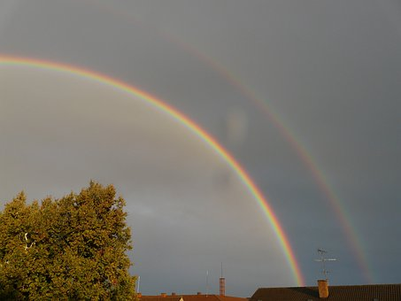 Double Rainbow, Secondary Rainbow, Rainbow, Mirroring
