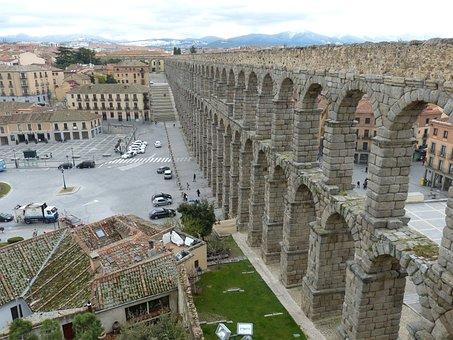 Viaduct, Segovia, Spain, Castile, Historic Center