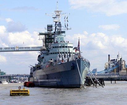 Thames, Ships, Warships, Royal, Navy, War, Grey