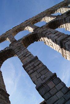 Aqueduct, Segovia, Spain, Architecture, Monument, Roman