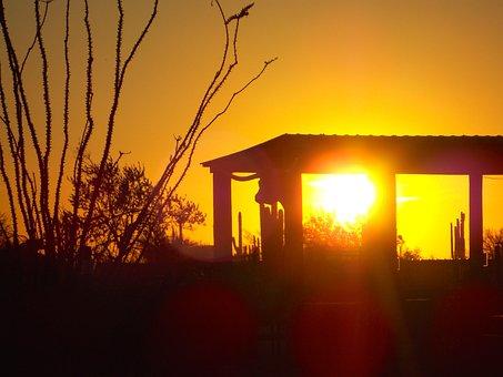 Sunset, Sky, Ranch, Summer, Nature, Sun, Landscape
