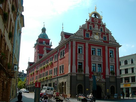 Town Hall, Gotha, Marketplace, Facade, Monument
