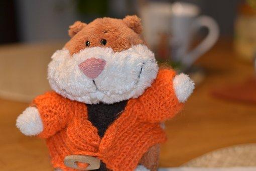 Hamster, Orange, Wave, Teddy Bear, Toys, Soft Toy