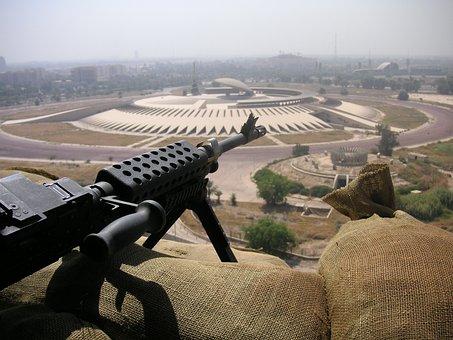 Machine Gun, Gun, Iraq, War, Weapon