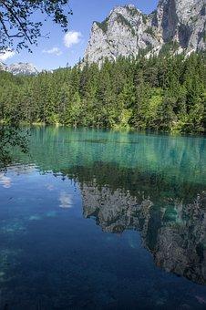 Lake, Water, Mirroring, Green Lake, Tragöß