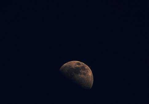 Moon, Sky, Night, Dark, Black Background