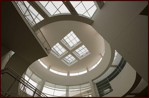 Getty, Rotunda, Museum, Gallery, Architecture, Art
