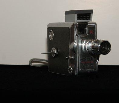 Antique, Camera, Front, Keystone, Olympic, K-33, 8 Mm