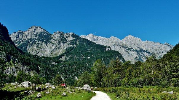 Watzmannostwand, Upper Lake, Königssee, Berchtesgaden