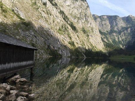 Königssee, Lake, Germany, Reflection, Mirror Photo