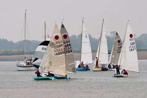 Dingy Race, Boat, Regatta, Misty, Sails, Maneuvering