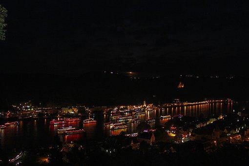 Rhine In Flames, Castle, Rhine, Middle Rhine, St Goar