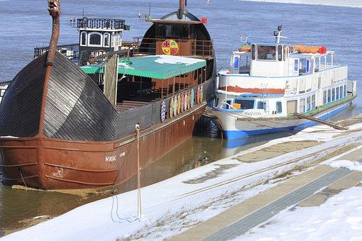 Kazimierz Dolny, Winter, Snow, Sail Boat Didn't