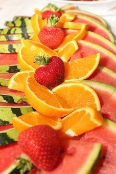 Citrus Fruits, Watermelon, Orange, Strawberries