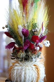 Easter Palm, Easter, Dried Flowers, Traditional