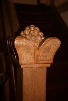 Treppengeländer, Stair Doorknob, Carved, Wood, Artwork