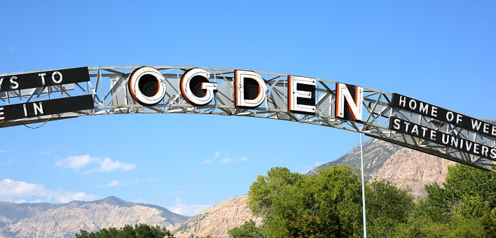 Entrance, Gate, Ogden, Enter, Exit, Architecture, Utah