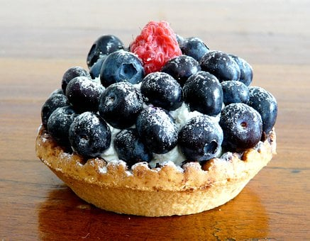 Blueberries, Blue, Sweet, Tart, Cake, Desserts, Dessert