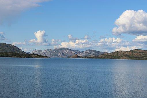 Lake Laberge, Brine, Yukon, Canada, Lake, Whitehorse