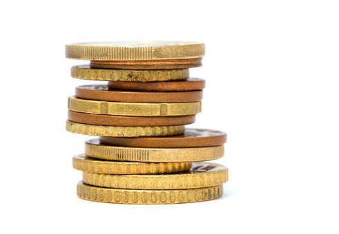 Coins, Gold, Stacked, Money, Currency, Cash, Pile