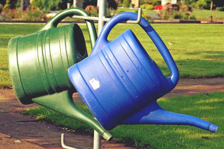 Watering Can, Casting, Cemetery, Stand, Plastic Jug