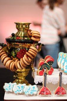 Samovar, Russian, Decoration, Cookies, Cookie