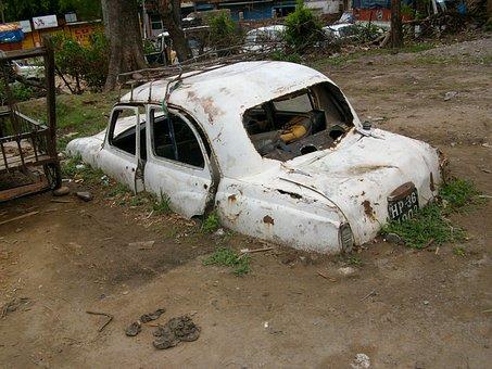 Car, Dirt, Buried, Dirty, Transport, Service, Auto