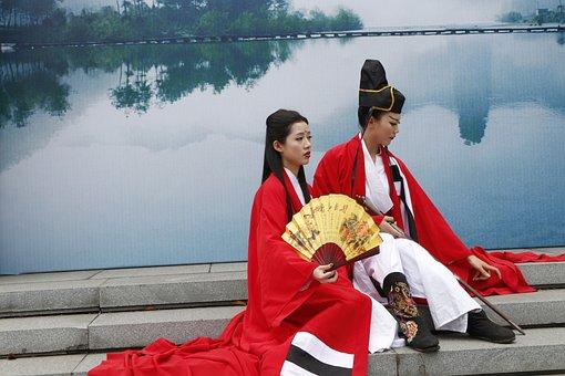 Swordsman, Jiangnan, Fan, Asia, Women, Model