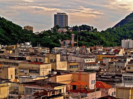 Favelas, Buildings, Sheds, Rio De Janeiro, Brazil