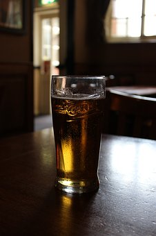 Beer, Glass, Pub, Table, Alcohol, Yellow, Drink, Bar