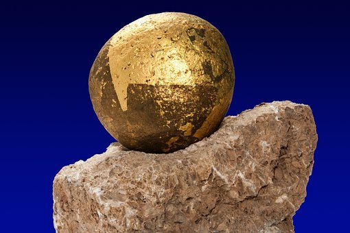 Stone, Art, Stone Art, About, Smooth, Raw, Gold, Gilded