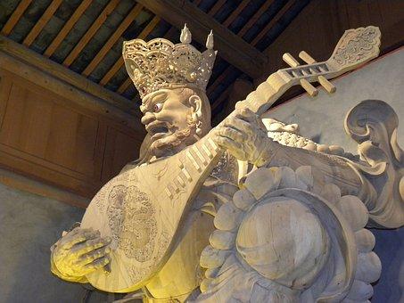 Sculpture, China, Shrine, Great Buddha, Leshan