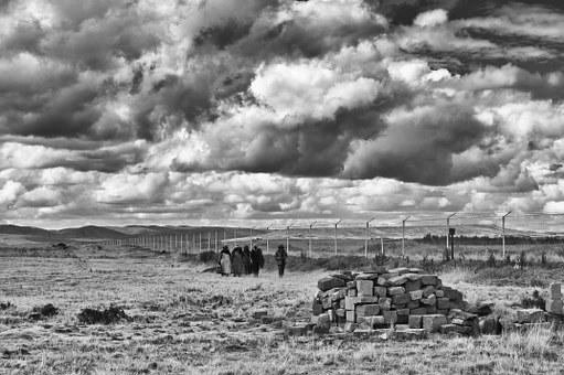Landscape, Heavy Clouds, Travel, Archaeological