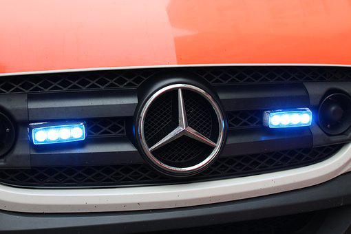 Blue Light, Use, Mercedes, Bus, Doctor On Call, Help