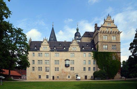 Castle, Wolfsburg, Lower Saxony, Facade, Historically