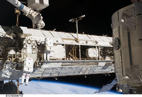 International Space Station, Iss, Astronaut, Space-suit