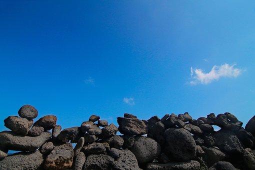 Cozy Seopji, Jeju Island, Beach, Sea, Stone Wall, Sky