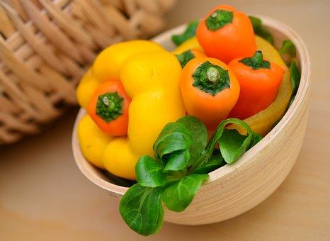 Paprika, Salad, Lamb's Lettuce, Vegetables