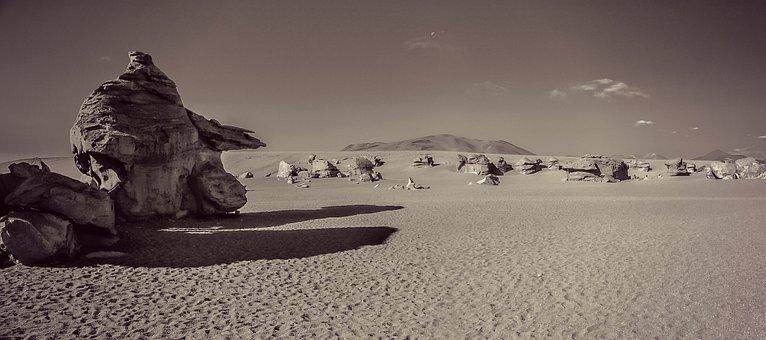 Desert, Siloli, Bolivia, Landscape