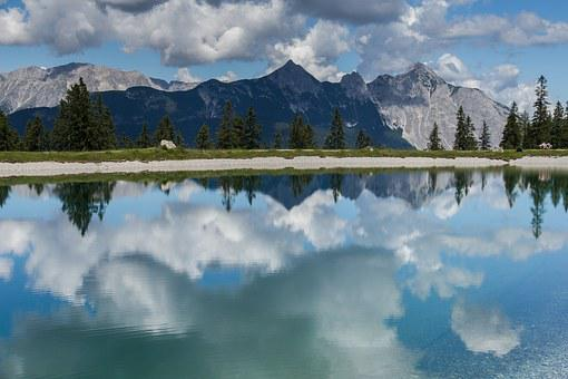 Seefeld, Mountain Panorama, Water Reflection, Mountains