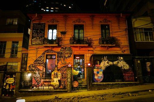 Building In La Paz, Bolivia, Graffiti, Mural, Art