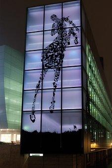Car Town, Wolfsburg, Illuminated, Night, Dark