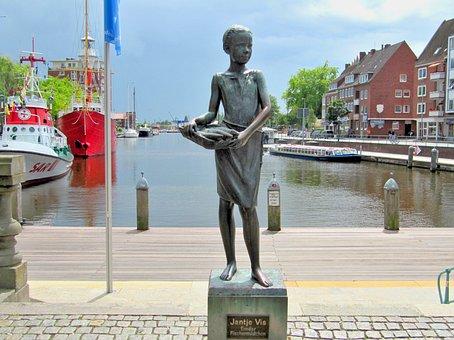 Jantje Vis, Statue, Germany, Norddeutschand, North Sea