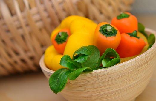 Paprika, Vegetables, Lamb's Lettuce, Snack Vegetables