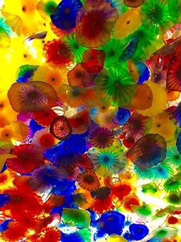 Umbrella, Bellagio, Colors, Pattern